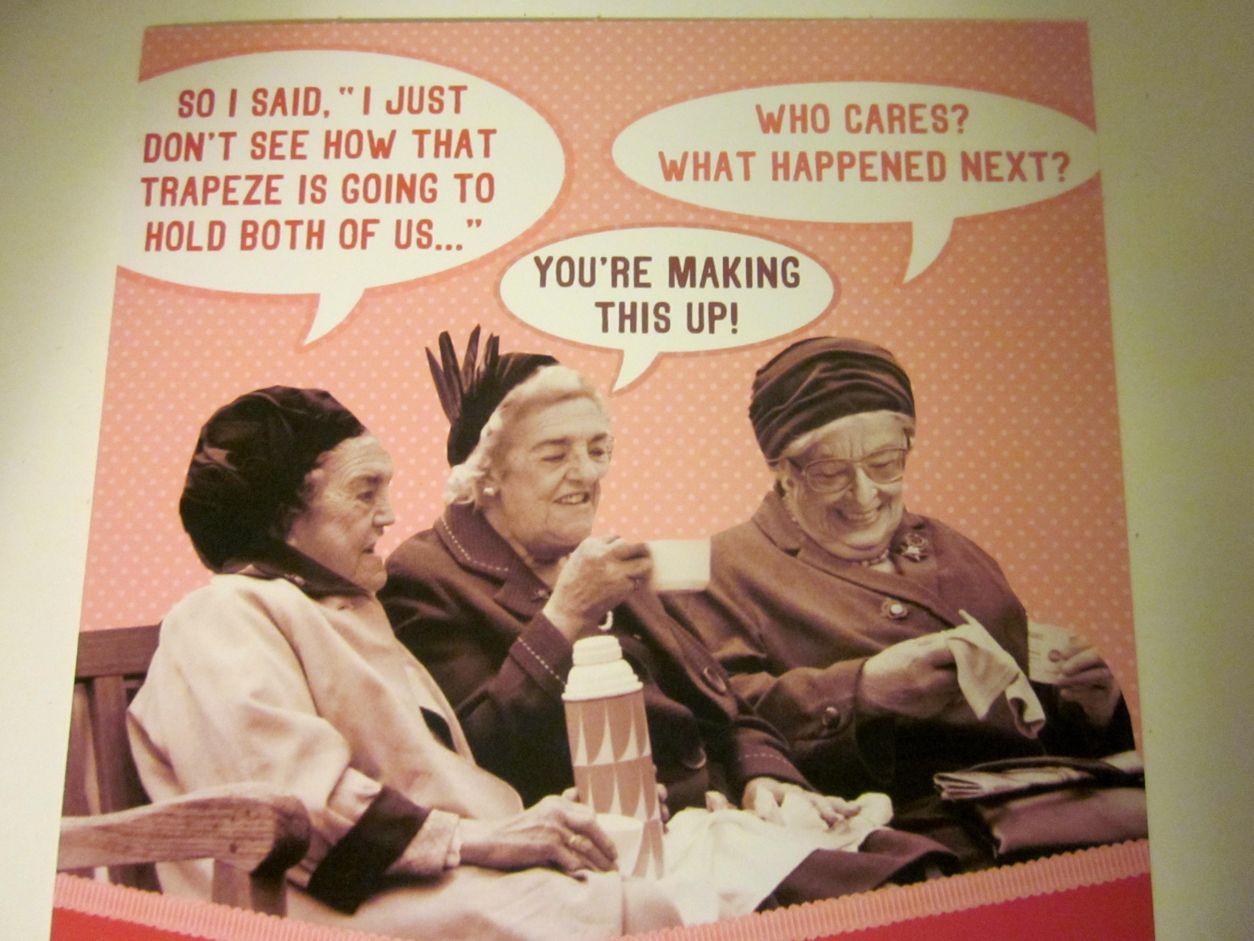 Old Lady Birthday Cards – gangcraft